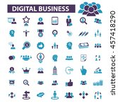 digital marketing icons | Shutterstock .eps vector #457418290
