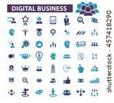 digital marketing icons | Shutterstock .eps vector #457418290