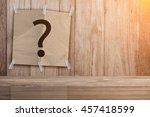 recycle paper pad with question ... | Shutterstock . vector #457418599
