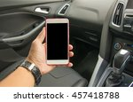 a man sitting in the car and... | Shutterstock . vector #457418788