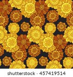 abstract stylized floral....