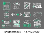 vector set of back to school ... | Shutterstock .eps vector #457423939