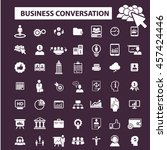 business conversation icons | Shutterstock .eps vector #457424446