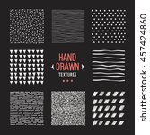 set of hand drawn textures and... | Shutterstock .eps vector #457424860