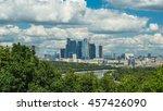 the skyscraper on the... | Shutterstock . vector #457426090
