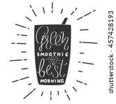 modern hand draw lettering... | Shutterstock .eps vector #457428193