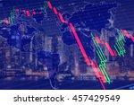 economy crisis  global... | Shutterstock . vector #457429549