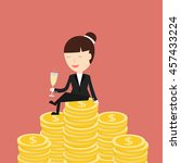 business situation.... | Shutterstock .eps vector #457433224
