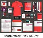 vector illustration of a set of ... | Shutterstock .eps vector #457433299