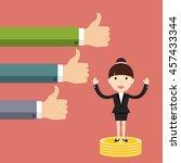 businesswoman standing on a...   Shutterstock .eps vector #457433344