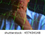 cardiogram concept image.... | Shutterstock . vector #457434148