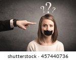 caucasian business hand... | Shutterstock . vector #457440736