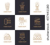 cinema linear icons set. vector ... | Shutterstock .eps vector #457441180