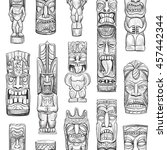 vector collection of sketches... | Shutterstock .eps vector #457442344