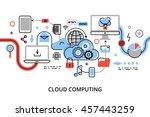 modern flat thin line design... | Shutterstock .eps vector #457443259