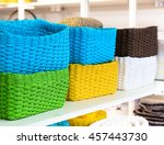 Blank Colorful Woven Baskets....