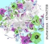beautiful  watercolor bouquet... | Shutterstock . vector #457447558