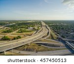 aerial view houston downtown... | Shutterstock . vector #457450513