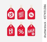 sale label tab   black friday... | Shutterstock .eps vector #457451386