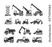 construction vehicles objects... | Shutterstock .eps vector #457454464