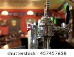 chrome beer taps with... | Shutterstock . vector #457457638