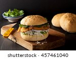 the cemita poblana is a typical ... | Shutterstock . vector #457461040