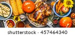 thanksgiving day food. various... | Shutterstock . vector #457464340