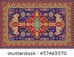 colorful mosaic rug with... | Shutterstock .eps vector #457465570