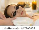 beautiful woman getting laser...   Shutterstock . vector #457466614
