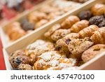 tray of breakfast pastries... | Shutterstock . vector #457470100
