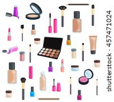 sets of cosmetics on isolated... | Shutterstock .eps vector #457471024