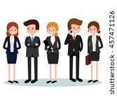 business people  group of... | Shutterstock .eps vector #457471126