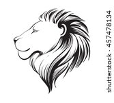 isolated lions head  stylized... | Shutterstock .eps vector #457478134