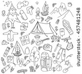 recreation. tourism and camping ... | Shutterstock .eps vector #457481248
