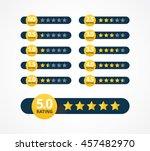 set of stars rating design... | Shutterstock .eps vector #457482970