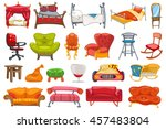 set of various furniture such... | Shutterstock .eps vector #457483804