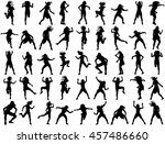 modern style dancer girl vector ... | Shutterstock .eps vector #457486660