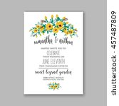 wedding card or invitation with ... | Shutterstock .eps vector #457487809