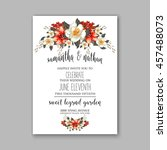 wedding card or invitation with ... | Shutterstock .eps vector #457488073