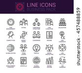 simple icons set of business... | Shutterstock .eps vector #457488859