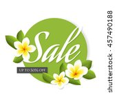 vector summer sale banner with... | Shutterstock .eps vector #457490188