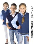 portrait of three students  two ... | Shutterstock . vector #4574917