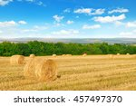 Straw Bales On A Wheat Field...