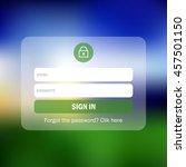 member login form interface. ...
