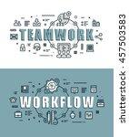 set of modern vector... | Shutterstock .eps vector #457503583
