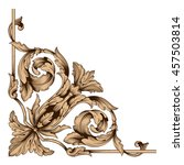 vintage baroque ornament. retro ... | Shutterstock .eps vector #457503814