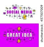 set of modern vector... | Shutterstock .eps vector #457507009