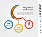 infographic design template.... | Shutterstock .eps vector #457508203