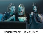 Teenage Girls Watching Horror...