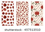 set of seamless fruits vector... | Shutterstock .eps vector #457513510